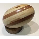Ballon Rugby en bois - Elipses en bois clair Ultra Petita Ventes Privées