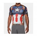 Nouvelle Baselayer de compression Rugby - Captain América Under Armour