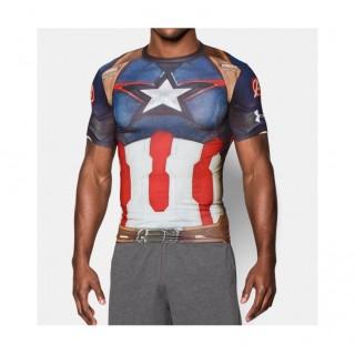 Nouvelle Baselayer de compression Rugby - Captain América Under Armour