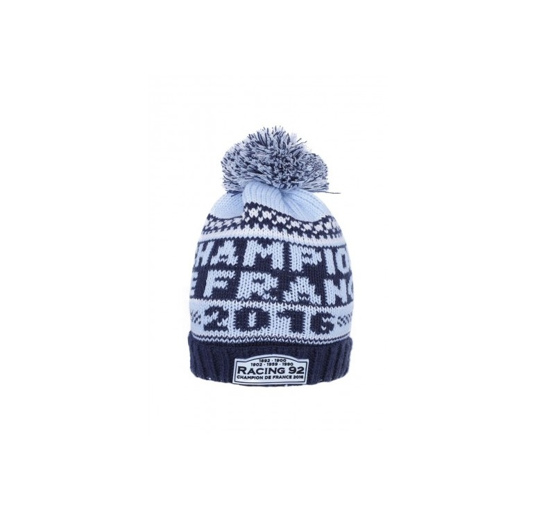 Bonnet Rugby - Racing 92 Champion de France 2016 - Racing 1882