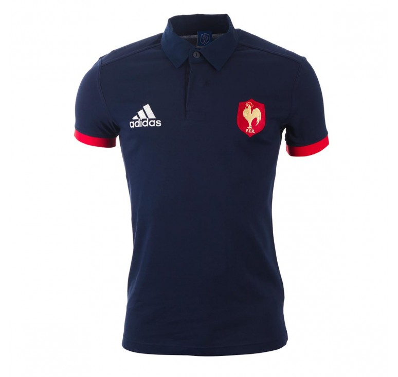 En ligne Polo Rugby Adulte Supporter France FFR Adidas