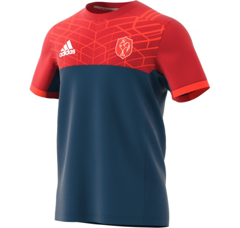 Tee-shirt Rugby Adulte - France performance Adidas