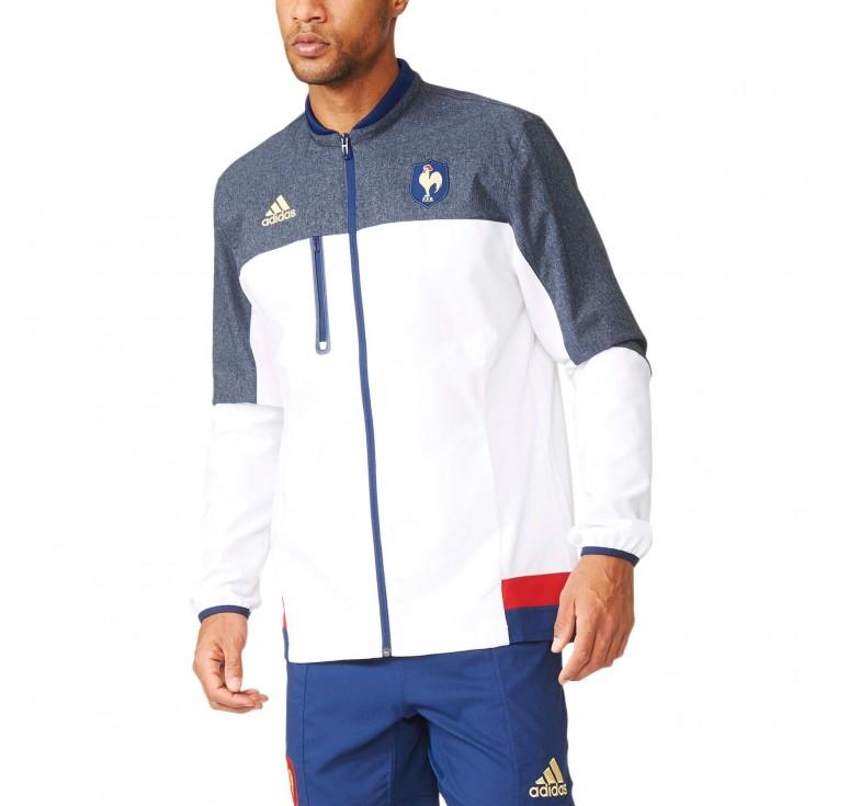 Veste Rugby zippé France 2016 Adidas Remise Paris en ligne