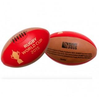 """Ballon Rugby - """"1823"""" Heritage cuir World Cup 2015 T5 Gilbert à Petits Prix"""
