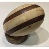 Ballon Rugby en bois - Elipses en bois foncé Ultra Petita Pas Cher Paris