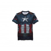Baselayer de compression Adulte - Captain America Under Armour Lyon