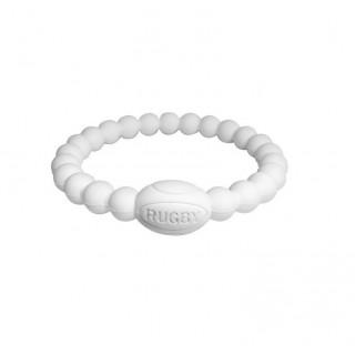 Bracelet Rugby - Active Rugby Life Bracelet blanc - Elegant Violence Rugby Réduction