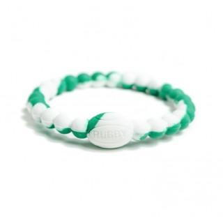 Bracelet Rugby - Active Rugby Life Bracelet vert/blanc - Elegant Violence Rugby à Petit Prix