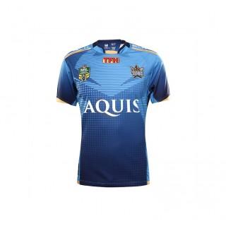 Maillot Rugby Adulte - Gold Coast Titans réplica domicile 2016/2017 Noir Pas Chere
