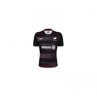 Maillot Rugby Adulte - Saracens réplica domicile 2016/2017 Noir Moins Cher