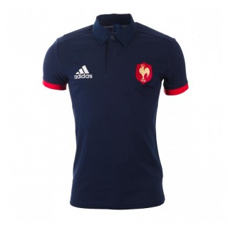 En ligne Polo Rugby Adulte - Supporter France FFR Adidas