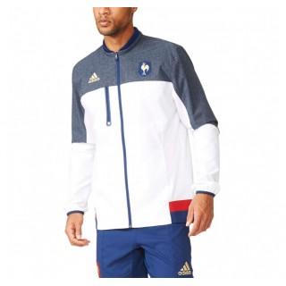 Veste Rugby zippé - France 2016 Adidas Remise Paris en ligne